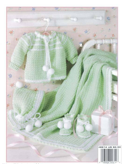 Knitting Patterns For Baby Layettes : Lullaby Layettes Baby Crochet Pattern Book 2614