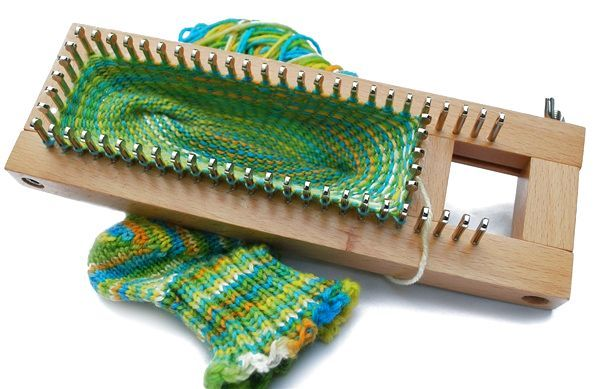 SOCK Loom 1 Knitting Board Adjustable Loom inc DVD